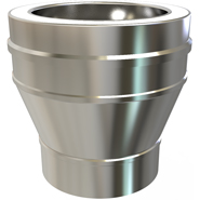 """KC Twinwall Flue Pipe Roof Support 125mm 5/"""" or 150mm 6/"""""""